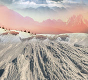 Beauty of winter mountains Royalty Free Stock Images