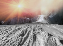 Beauty of winter mountains Royalty Free Stock Photo
