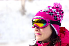 Beauty of winter sports Stock Images