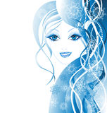 Beauty winter women. Vector illustration  Royalty Free Stock Image