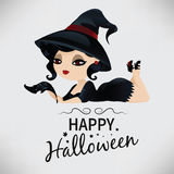 Beauty witch in pin-up style Royalty Free Stock Photo