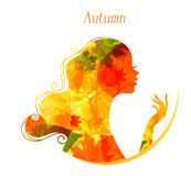 Beauty woman. Vector illustration of Beauty woman Royalty Free Stock Images