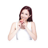 Beauty woman with Apple Royalty Free Stock Images