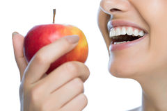 Beauty woman with apple Royalty Free Stock Photos