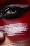 Beauty Woman with art Makeup on shiny Skin Stock Photography