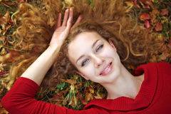 Beauty woman autuman portrait Royalty Free Stock Photo