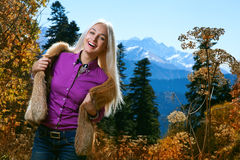 Beauty woman in autumn Royalty Free Stock Photo