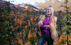 Beauty woman in autumn Royalty Free Stock Images