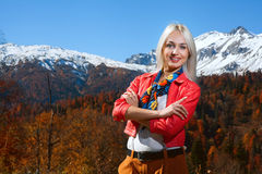 Beauty woman in autumn Stock Image