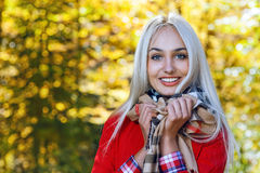 Beauty woman in autumn Stock Photography
