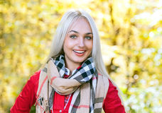 Beauty woman in autumn Royalty Free Stock Photos