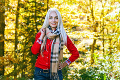 Beauty woman in autumn Royalty Free Stock Photography