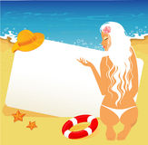 Beauty woman on a beach Royalty Free Stock Images