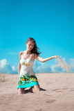 Beauty woman on the beach Royalty Free Stock Images