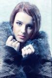 Beauty woman. Beautiful sexy woman in fur coat Stock Photo