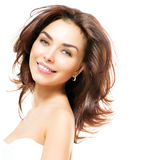 Beauty Woman. Beautiful Young Female Portrait Royalty Free Stock Photos
