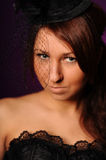 Beauty woman in black corset Stock Photography