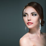 Beauty woman with bright make-up Royalty Free Stock Image