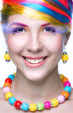 Beauty woman with bright makeup Stock Photo