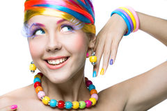 Beauty woman with bright makeup Royalty Free Stock Photos