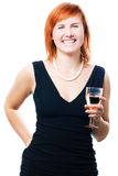 Beauty woman with champagne Royalty Free Stock Photos