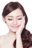 Beauty woman with charming smile Stock Images
