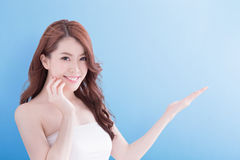 Beauty woman with charming smile Royalty Free Stock Image