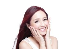 Beauty woman with charming smile Stock Photo