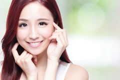 Beauty woman with charming smile Royalty Free Stock Photography