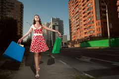 Beauty woman in city Royalty Free Stock Photo