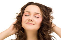 Beauty woman close eyes Stock Images