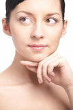 Beauty woman close-up face Royalty Free Stock Images