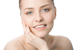 Beauty woman closeup face Stock Photography
