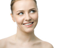 Beauty woman closeup face Royalty Free Stock Image