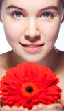 Beauty woman closeup portrait Royalty Free Stock Photography