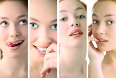 Beauty woman closeup portrait Stock Photo