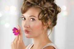 Beauty woman closeup portrait Stock Images