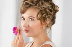 Beauty woman closeup portrait Royalty Free Stock Photo