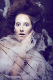 Beauty woman with creative make up like cocoon Royalty Free Stock Photo