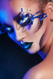 Beauty woman with creative make up. In studio Stock Images