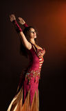 Beauty woman dance in arabian costume Royalty Free Stock Images