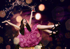 Beauty woman on a disco Royalty Free Stock Photography