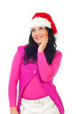 Beauty woman dreaming at Christmas Royalty Free Stock Photos