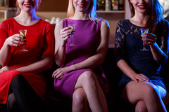 Beauty woman drinking shots Royalty Free Stock Images