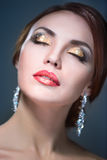 Beauty woman eith bright make-up Royalty Free Stock Photography