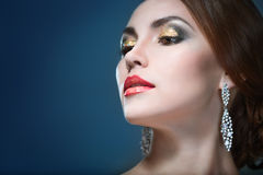 Beauty woman eith bright make-up Royalty Free Stock Image