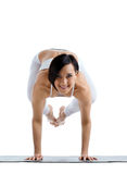 Beauty woman exercise arm balance yoga Stock Photography