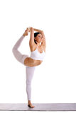Beauty woman exercise yoga - Dancer Pose Stock Photos