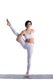 Beauty woman exercise yoga in white isolated Stock Photo