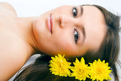 Beauty woman fac stock image